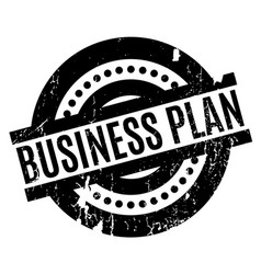business plan rubber stamp vector image