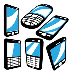 cell phoneset vector image