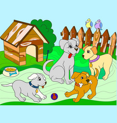 childrens color book cartoon family on nature mom vector image