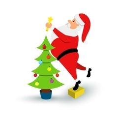 Christmas smiling Santa Claus character Cartoon vector image vector image