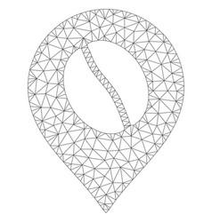 Coffee bean marker polygonal frame mesh vector