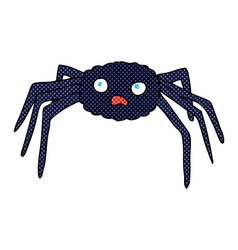 Comic cartoon spider vector