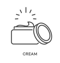 cream isolated linear icon skincare and beauty vector image