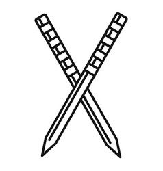 Croquet stick icon outline style vector