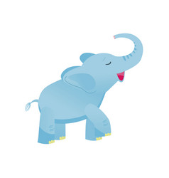 cute baby elephant light blue lovely animal vector image