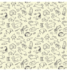 Cute doodle seamless vector image vector image