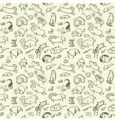 Cute doodle seamless vector
