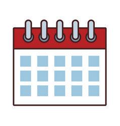 date calendar cartoon vector image