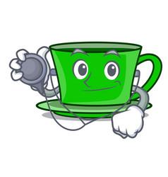 Doctor green tea character cartoon vector