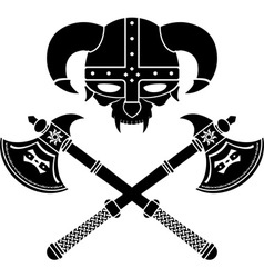 Fantasy viking helmet second variant vector