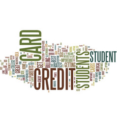 find your best student credit cards text vector image
