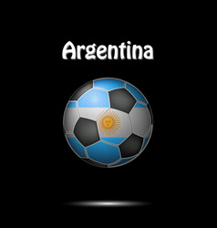 Flag of argentina in the form of a soccer ball vector