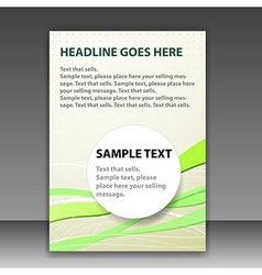 Folder or brochure template with space for text vector image