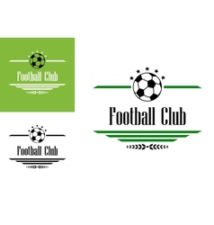 Football or soccer club symbol vector image