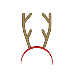 funny reindeer antler headband hair hoop vector image