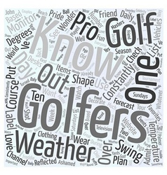 Golfers Word Cloud Concept vector