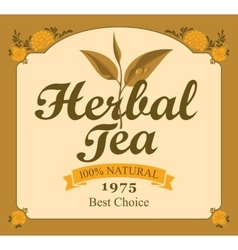 Herbal tea label vector