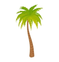 High palm tree icon cartoon style vector