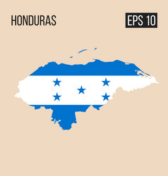 Honduras map border with flag eps10 vector