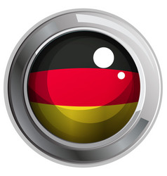 icon design for flag of germany vector image