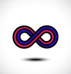 Infinity sign icon vector image