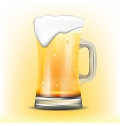 Isolated mug of beer vector image