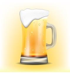 Isolated mug of beer vector image