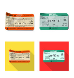 Isolated object ticket and admission sign vector