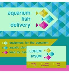 Logo and identification Shop aquarium fish vector