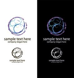Logo bubbles handmade vector