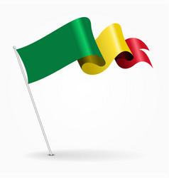 Malian pin wavy flag vector