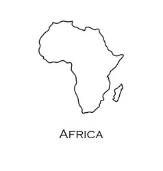 map of africa white on a white background vector image