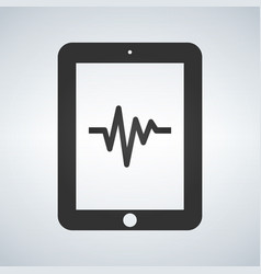 Medical record in tablet health data vector