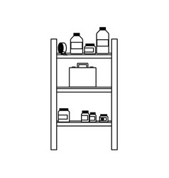 medicine pharmacy bottle tape healthy shelf line vector image