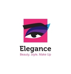 minimalistic beauty studio logo in blue vector image