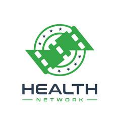 modern human health television logo vector image