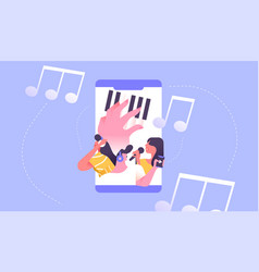 music phone app stream social people concept vector image
