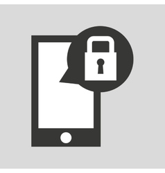 network smartphone protection digital vector image