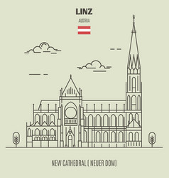 new cathedral in linz austria vector image