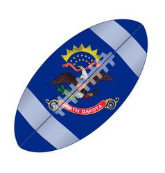 North dakota state usa football flag vector