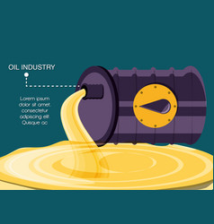 oil industry with barrel vector image