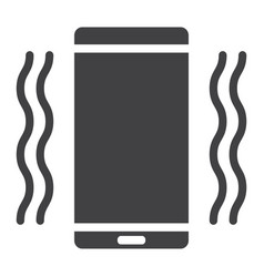 Phone vibrating glyph icon web and mobile vector