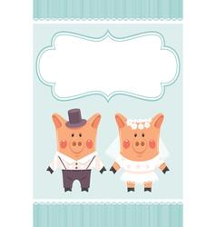 piggies newlyweds vector image