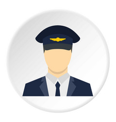 Pilot icon circle vector