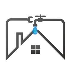 plumbing in the house repair vector image
