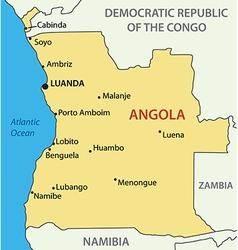 republic angola - map vector image