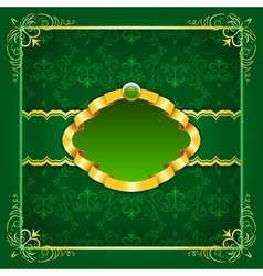 Royal template frame design for greeting card vector image
