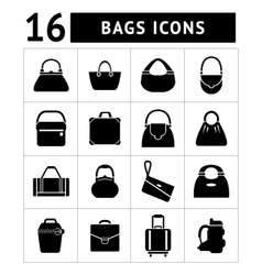 Set icons of bags vector image