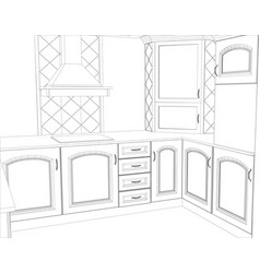 sketch design interior created of 3d vector image
