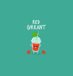Smoothie red currant vector